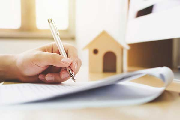 Signing fixed rate mortgage